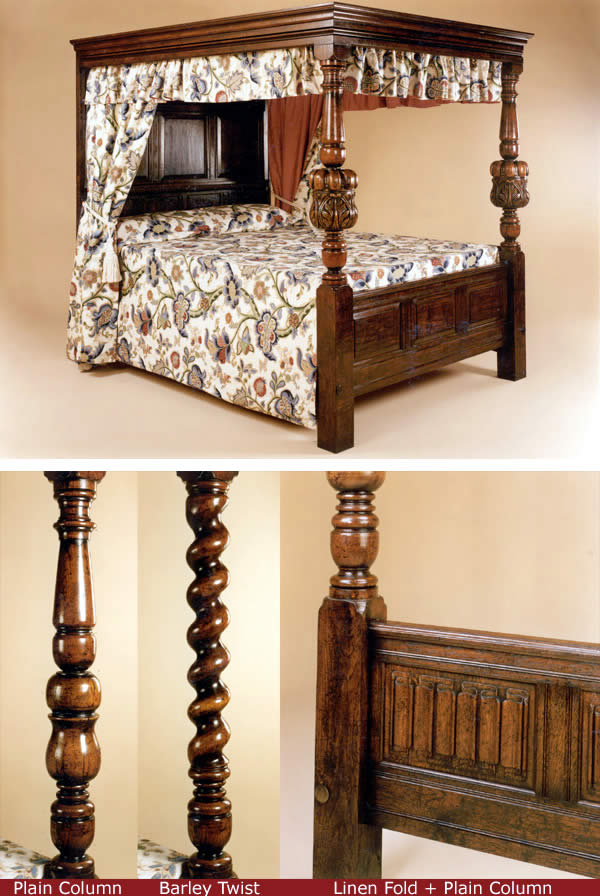 BD2 Four Poster Bed – Carved Columns Variations (see pics)
