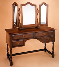 OBF2 Dressing Table & OBF3 3 Plate Mirror