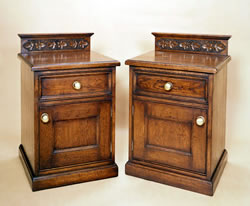 OCD11 Enclosed Carved Bedside Cabinets