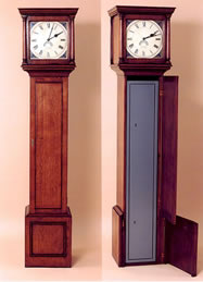 OCD18 Gun Cabinet – Oak Long Case Clock