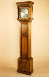 WV8 Walnut Veneered Longcase Clock