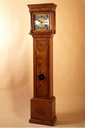 WV9 Walnut Veneered 'Bull's Eye' Longcase Clock