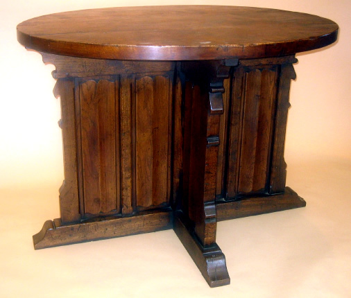 SC8121 French Gothic Carved Oak Table
